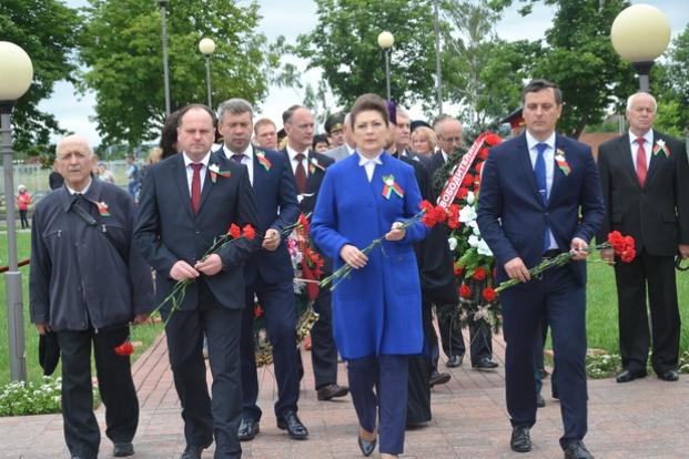 """Посещение мемориального комплекса """"Жертвам фашизма"""" г. Бобруйск."""